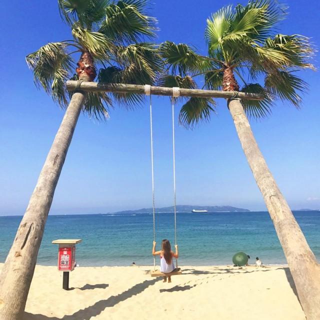 椰子の木ブランコ