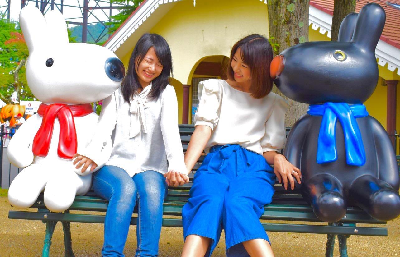 リサとガスパールタウンのベンチ