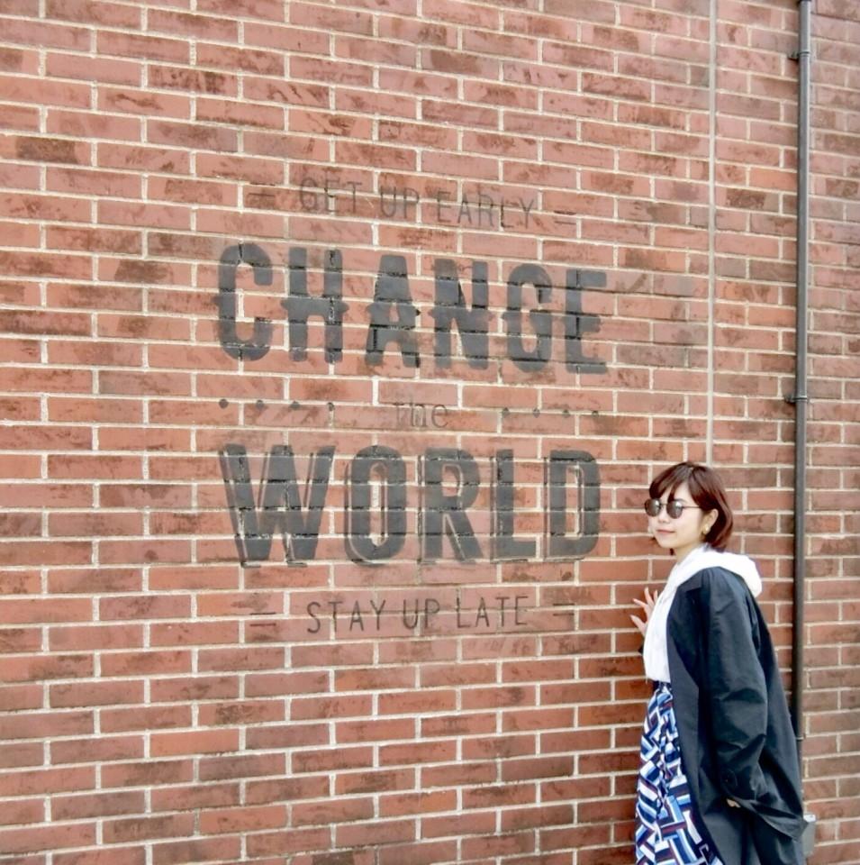CHANGE WORLD ウォールアート