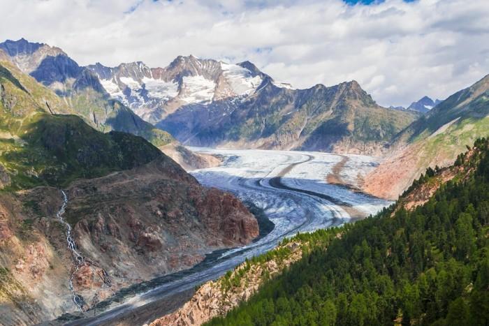 Aletschgletscher(アレッチ氷河)